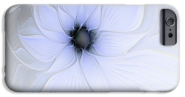 Floral Digital Art Digital Art Digital Art iPhone Cases - Softly Whispering iPhone Case by Amanda Moore