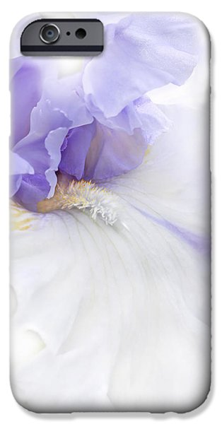 Softness of a Lavender Iris Flower iPhone Case by Jennie Marie Schell