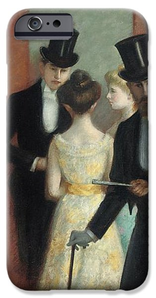 Soiree at the Opera iPhone Case by Ernest Rouart