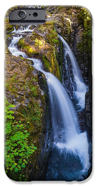 States iPhone Cases - Sol Duc Falls iPhone Case by Duane Miller