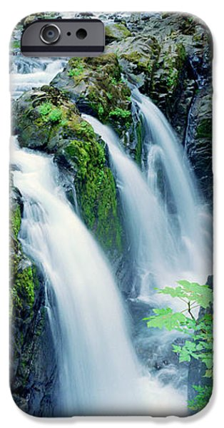 Fall iPhone Cases - Sol Duc Falls Olympic National Park Wa iPhone Case by Panoramic Images