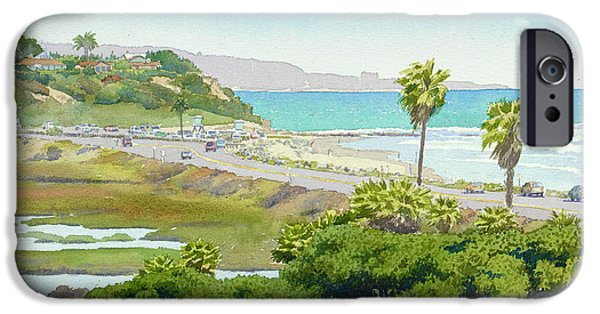 California Beach iPhone Cases - Solana Beach California iPhone Case by Mary Helmreich