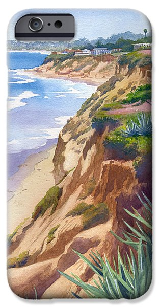 Fletcher iPhone Cases - Solana Beach Ocean View iPhone Case by Mary Helmreich