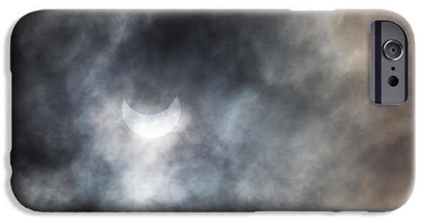 Solar iPhone Cases - Solar Eclips iPhone Case by Rebecca Cozart