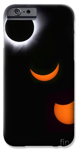 Solar Eclipse iPhone Cases - Solar Eclipse Sequence iPhone Case by Francois Gohier