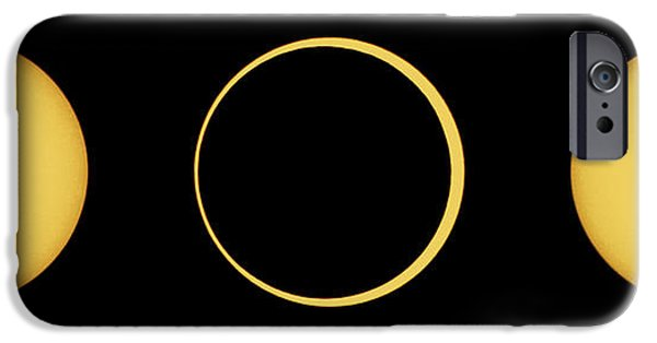 Solar Eclipse iPhone Cases - Solar Eclipse Sequence iPhone Case by John Chumack