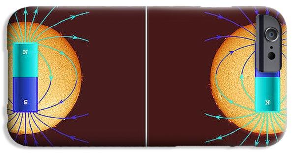 Reverse Art iPhone Cases - Solar Magnetic Pole Reversal iPhone Case by John Chumack