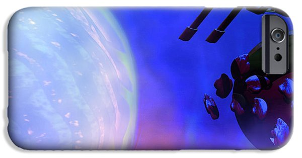 Jet Star iPhone Cases - Solar Nexus 2 iPhone Case by Corey Ford