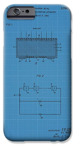 Solar Power iPhone Cases - Solar Panel Blueprint Patent iPhone Case by Dan Sproul