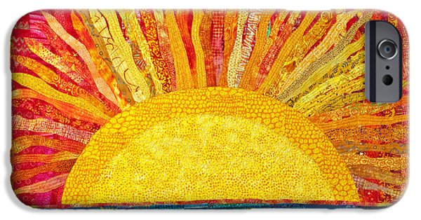 Sunset Tapestries - Textiles iPhone Cases - Solar Rhythms iPhone Case by Susan Rienzo