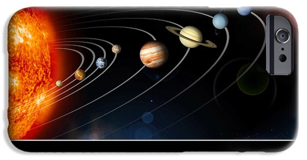 Terrestrial Sphere iPhone Cases - Solar System Poster iPhone Case by Stocktrek Images