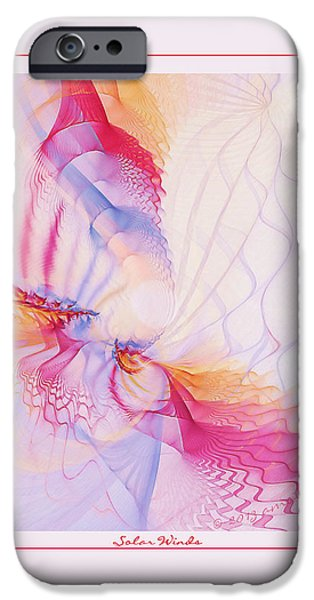 Digital Fine Pastels iPhone Cases - Solar Winds iPhone Case by Gayle Odsather