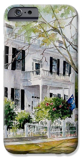 Flag iPhone Cases - SOLD Lafayette House iPhone Case by Gloria Turner