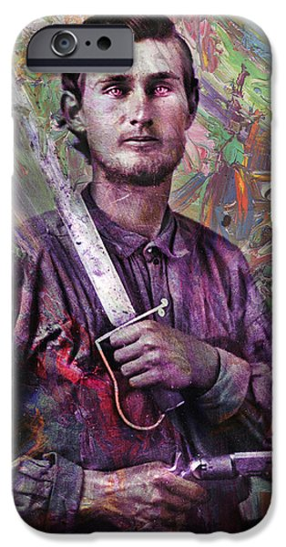 Intense iPhone Cases - Soldier Fellow 1 iPhone Case by James W Johnson