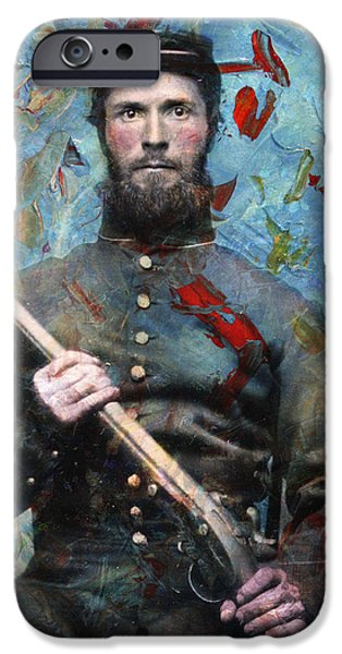 Intense iPhone Cases - Soldier Fellow 2 iPhone Case by James W Johnson