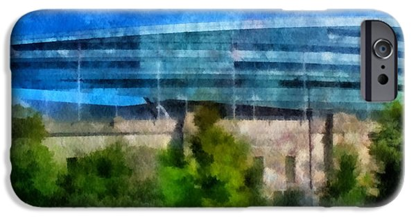 Chicago Cubs iPhone Cases - Soldier Field Chicago Photo Art 01 iPhone Case by Thomas Woolworth