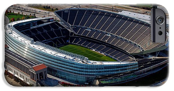 Soldier Field iPhone Cases - Soldier Field Chicago Sports 06 iPhone Case by Thomas Woolworth