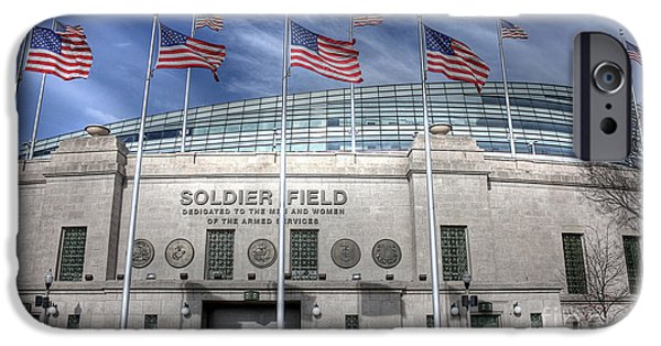 Soldier Field iPhone Cases - Soldier Field iPhone Case by David Bearden