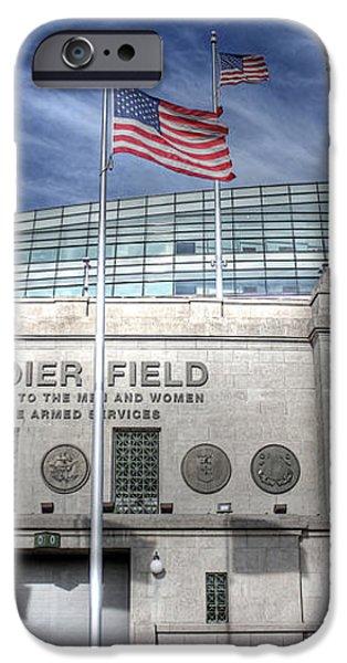 Soldier Field iPhone Case by David Bearden