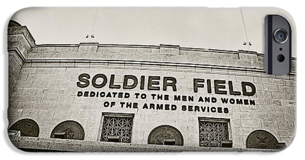 Soldier Field Photographs iPhone Cases - Soldier Field iPhone Case by Jessie Gould