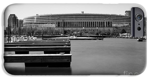 Soldier Field Digital Art iPhone Cases - Soldier Field Marina iPhone Case by F Icarus