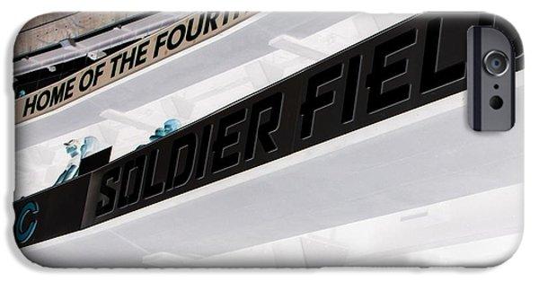 Soldier Field iPhone Cases - Soldier Field iPhone Case by Michael Krek
