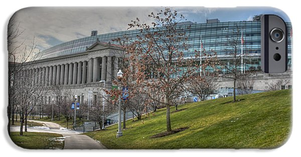 Soldier Field iPhone Cases - Soldier Field Renovated iPhone Case by David Bearden