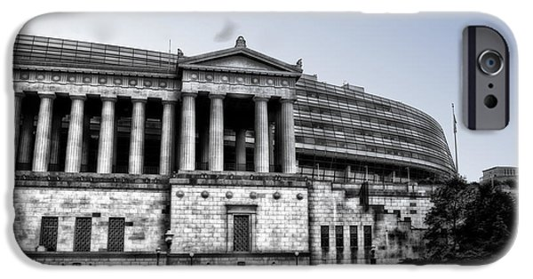 Soldier Field iPhone Cases - Soldier Field West Facade SC iPhone Case by Thomas Woolworth