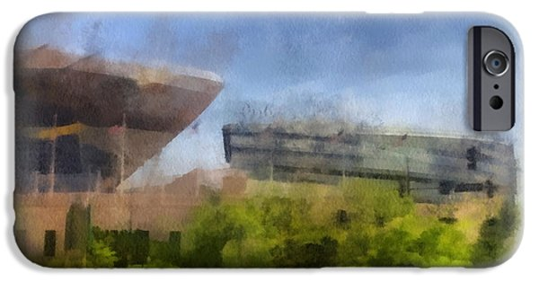 Soldier Field iPhone Cases - Soldier Field West Side Photo Art 01 iPhone Case by Thomas Woolworth