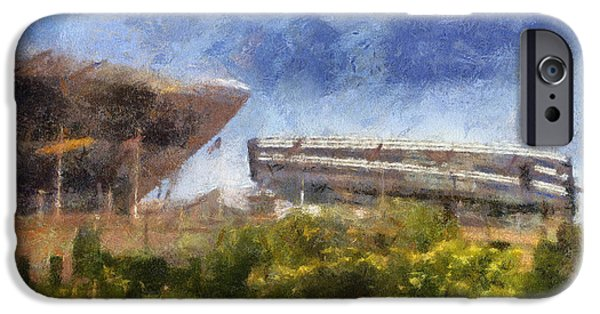Soldier Field iPhone Cases - Soldier Field West Side Photo Art 02 iPhone Case by Thomas Woolworth