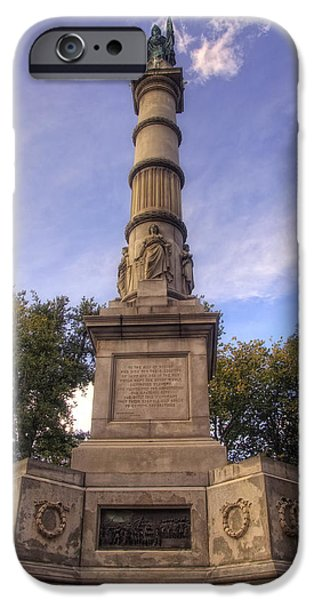 Soldiers and Sailors Monument - Boston iPhone Case by Joann Vitali