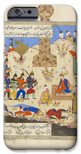 Iraq iPhone Cases - Soldiers Filing Before Timur iPhone Case by British Library