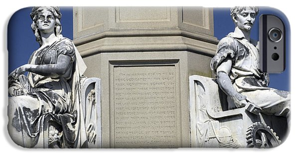 Gettysburg Address iPhone Cases - Soldiers Monument detail iPhone Case by Paul W Faust -  Impressions of Light