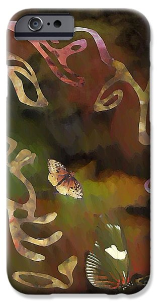 Solemn Wing Dance iPhone Case by Sarah Loft