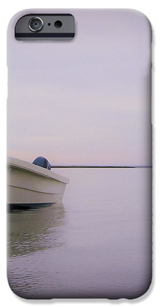 Solitary Boat iPhone Case by Adam Romanowicz