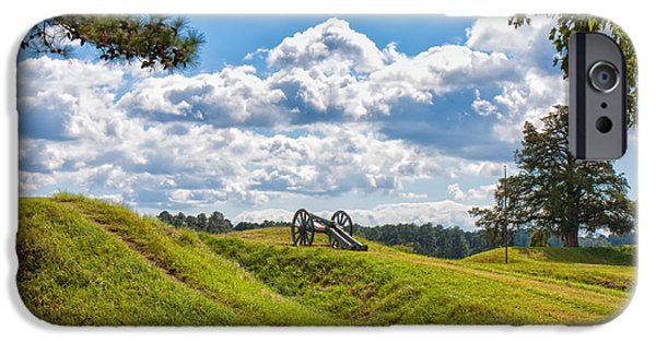 American Independance iPhone Cases - Solitary Cannon at Yorktown iPhone Case by John Bailey