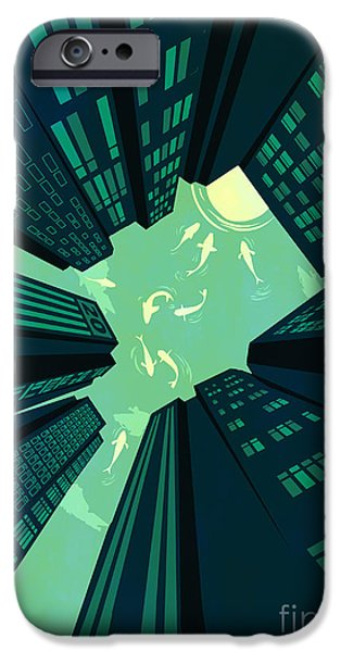 Big Cities iPhone Cases - Solitary Dream iPhone Case by Budi Kwan