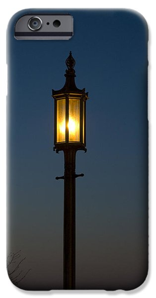Solitary gas light iPhone Case by Tim Mulina