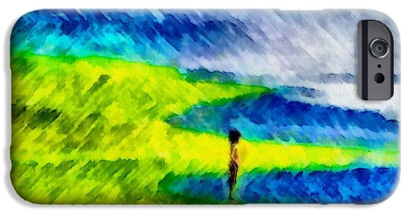 Painter Photo Mixed Media iPhone Cases - Solitary iPhone Case by Mario Carini