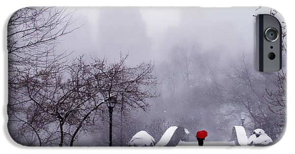 Winter Storm Digital iPhone Cases - Solitude 2 iPhone Case by Jessica Jenney
