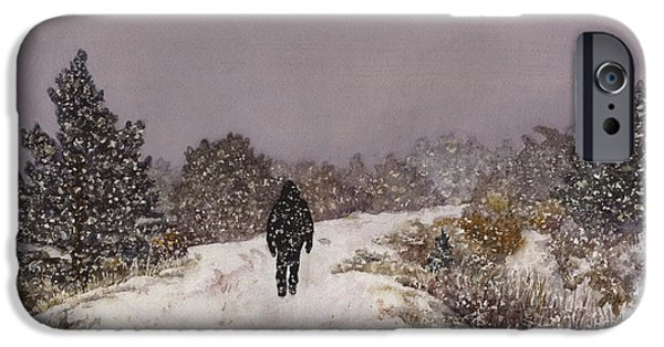 Snowy Day iPhone Cases - Solitude iPhone Case by Anne Gifford