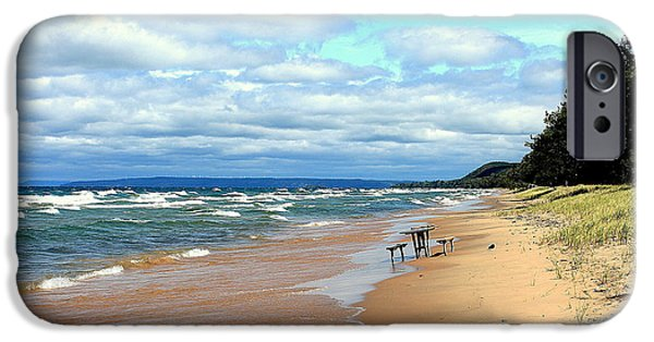 Hudson River iPhone Cases - Solitude Beach iPhone Case by Karl Monkemeyer