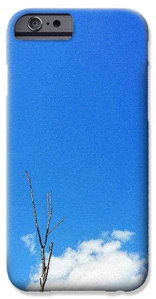 Solitude Photographs iPhone Cases - Solitude - Blue Sky Art By Sharon Cummings iPhone Case by Sharon Cummings