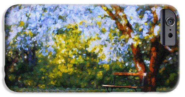Flora Mixed Media iPhone Cases - Solitude Garden iPhone Case by Georgiana Romanovna