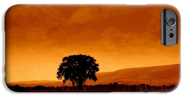 Mountain Digital Art iPhone Cases - Solitude iPhone Case by Janine Riley