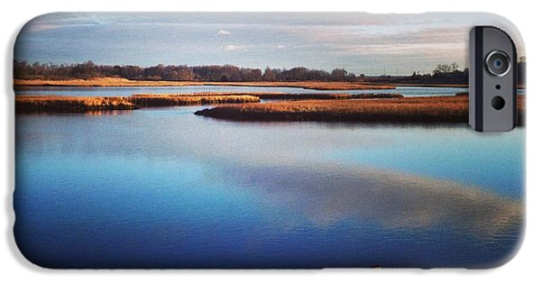 Salt Marsh. New England iPhone Cases - Solitude  iPhone Case by John Repoza