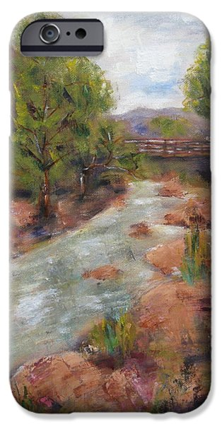 Business Paintings iPhone Cases - Solitude iPhone Case by Kathy Stiber