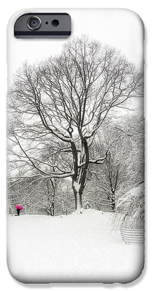 Trees In Snow iPhone Cases - Solitude iPhone Case by Nishanth Gopinathan
