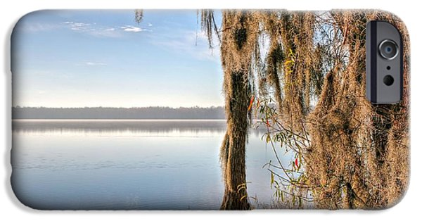 Covington iPhone Cases - Solitude on Lake Jackson  iPhone Case by JC Findley