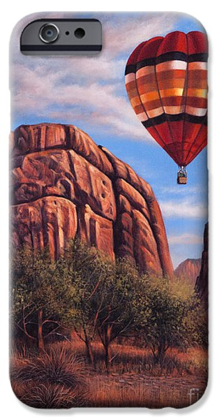 Hot Air Balloon iPhone Cases - Solo Crossing iPhone Case by Ricardo Chavez-Mendez